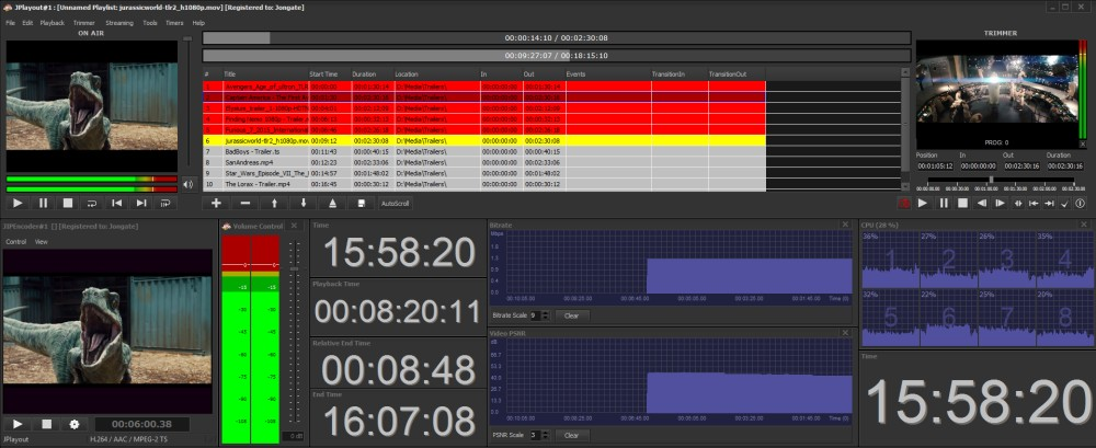IP Input in JPlayout - JONGATE Broadcasting Solutions