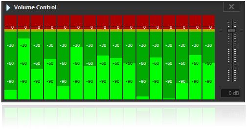 JIPEncoder Volume Control for 16 input mono audio streams.