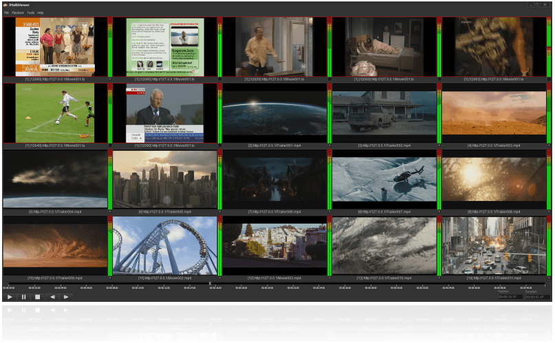 JMultiViewer – Multiview Monitoring with Automatic Audio, Video and Signal Errors Detection, Error Loging and E-mail Notification