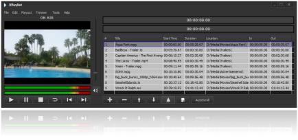 JPlaylist is designed for offline playlist building prior to sending them for playback.